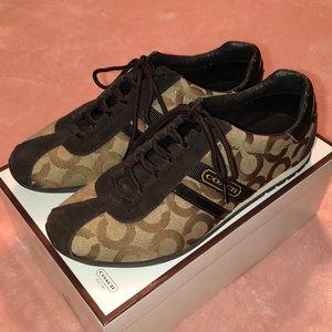 COACH Khaki & Chocolate Sneakers